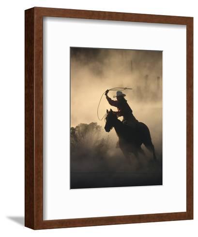 Cowgirl-DLILLC-Framed Art Print