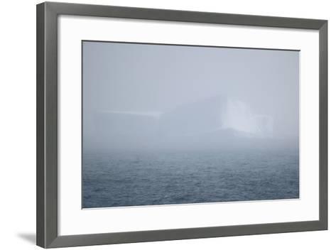 Iceberg Seen through Fog-DLILLC-Framed Art Print