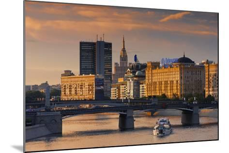 Skyline over the Moscow River-Jon Hicks-Mounted Photographic Print