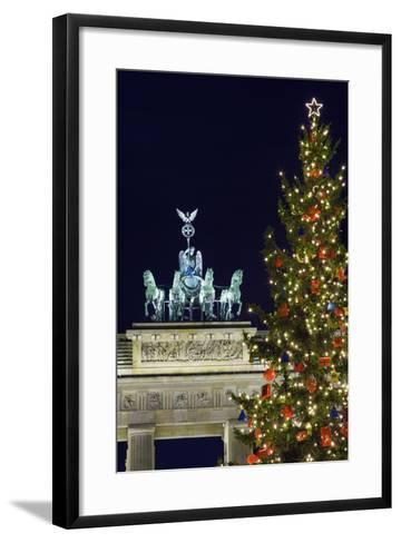 Christmas Tree and Brandenburg Gate-Jon Hicks-Framed Art Print