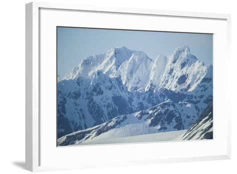 Snow Covered Peaks-DLILLC-Framed Art Print