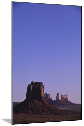 Desert Valley at Dusk-DLILLC-Mounted Photographic Print