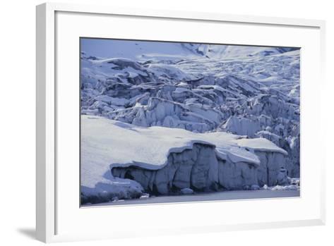 Shoup Glacier Covered in Fresh Snow-DLILLC-Framed Art Print
