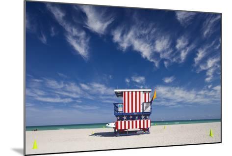 13Th Street Lifeguard Station on Miami Beach-Jon Hicks-Mounted Photographic Print