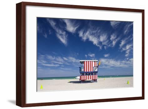 13Th Street Lifeguard Station on Miami Beach-Jon Hicks-Framed Art Print