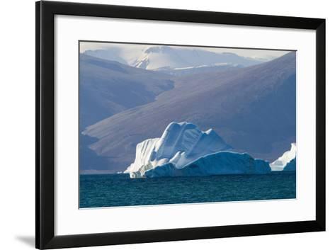 Iceberg near the Coastline-DLILLC-Framed Art Print