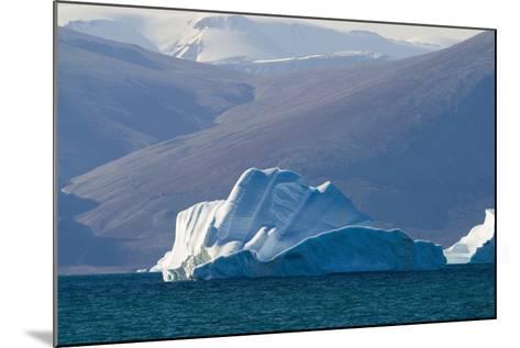 Iceberg near the Coastline-DLILLC-Mounted Photographic Print
