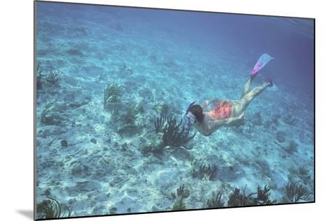 Woman Swimming in the Ocean-DLILLC-Mounted Photographic Print