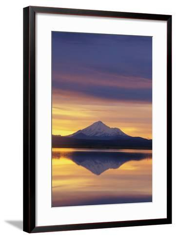 Mountain Reflected in Lake-DLILLC-Framed Art Print