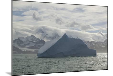 Iceberg with Mountain Range in Background-DLILLC-Mounted Photographic Print
