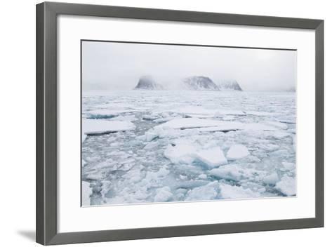 Sea Ice Surrounding Islands-DLILLC-Framed Art Print