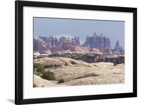 The Needles Rock Formation-DLILLC-Framed Art Print