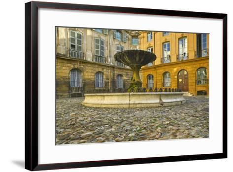 Fountain in Place D'albertas-Jon Hicks-Framed Art Print