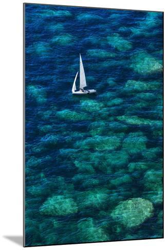 Dinghy off Bonifacio-Jon Hicks-Mounted Photographic Print