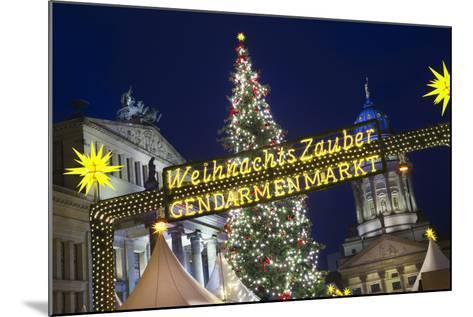 Lighted Sign at Gendarmenmarkt Christmas Market-Jon Hicks-Mounted Photographic Print