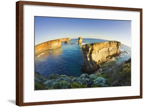 Coastline in Port Campbell National Park-Jon Hicks-Framed Art Print
