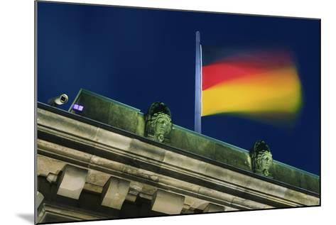 German Flag Flying from the Reichstag-Jon Hicks-Mounted Photographic Print