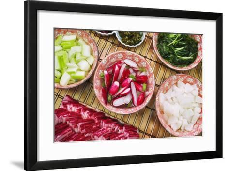 Food Stall in Nishiki-Koji Market-Jon Hicks-Framed Art Print