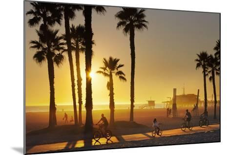 The South Bay Bicycle Trail at Sun Set.-Jon Hicks-Mounted Photographic Print