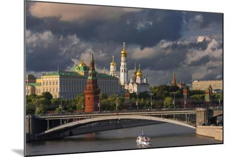 The Kremlin and Moscow River.-Jon Hicks-Mounted Photographic Print