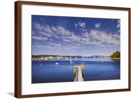 Pier near Southwest Harbor-Jon Hicks-Framed Art Print