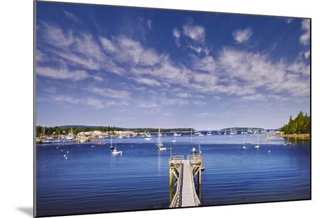 Pier near Southwest Harbor-Jon Hicks-Mounted Photographic Print
