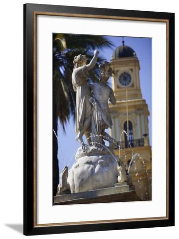 Fountain Dedicated to Simon Bolivar in Santiago-Jon Hicks-Framed Art Print