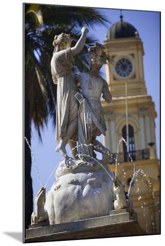 Fountain Dedicated to Simon Bolivar in Santiago-Jon Hicks-Mounted Photographic Print