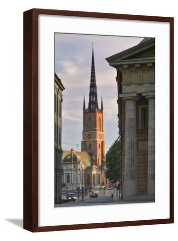 Riddarholmskyrkan Steeple-Jon Hicks-Framed Art Print
