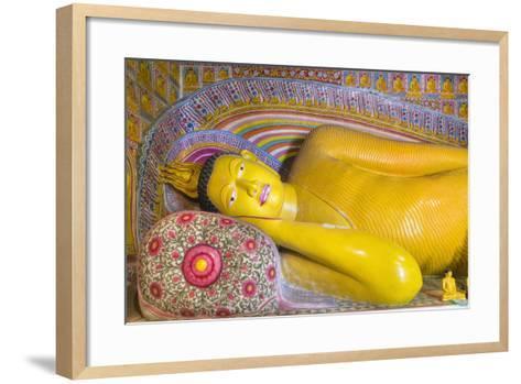 The Reclining Buddha at the Asgiriya Monastery-Jon Hicks-Framed Art Print