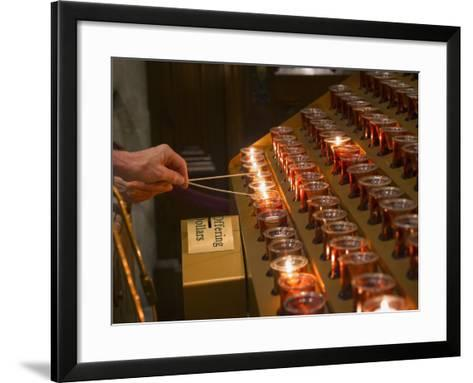 St Patrick's Cathedral.-Jon Hicks-Framed Art Print