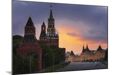 Red Square at Dusk.-Jon Hicks-Mounted Photographic Print