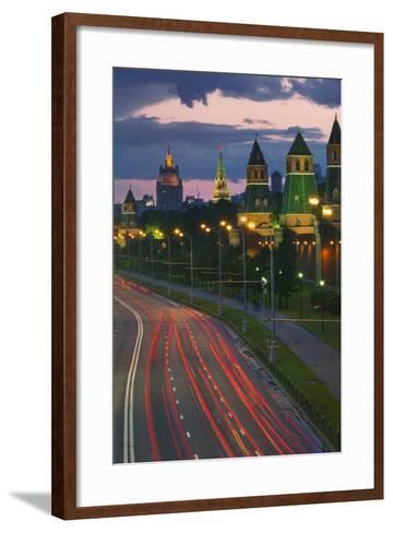 Kremlevskaya Nab at Dusk-Jon Hicks-Framed Art Print
