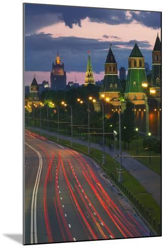 Kremlevskaya Nab at Dusk-Jon Hicks-Mounted Photographic Print