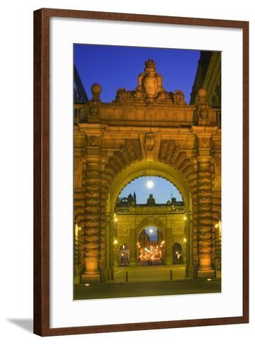 Riksdagshuset Arches in Gamla Stan-Jon Hicks-Framed Art Print