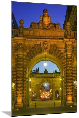 Riksdagshuset Arches in Gamla Stan-Jon Hicks-Mounted Photographic Print