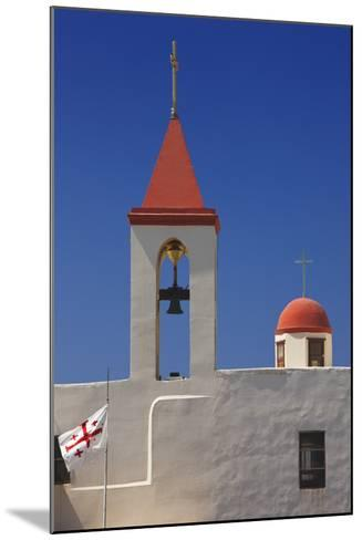 Flag of the Knights Templar at St. John's Church in Akko-Jon Hicks-Mounted Photographic Print