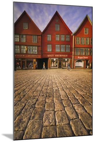 Row Houses in Bryggen-Jon Hicks-Mounted Photographic Print