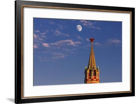 Moon Rise over the Saviour Gate Tower.-Jon Hicks-Framed Art Print