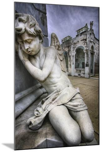 Angel Sculpture in Recoleta Cemetery in Buenos Aires-Jon Hicks-Mounted Photographic Print
