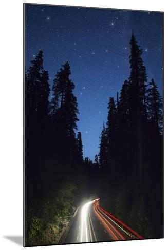 Highway 101 and the Avenue of the Giants at Night.-Jon Hicks-Mounted Photographic Print
