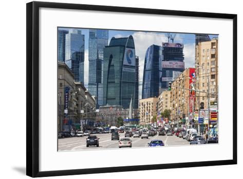 Moskva-City-Jon Hicks-Framed Art Print