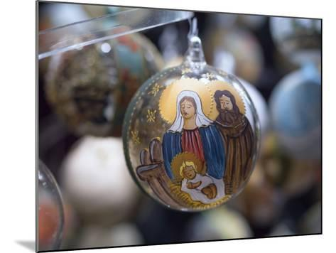 Baubles for Sale in the Viennese Christmas Market, Vienna, Austria.-Jon Hicks-Mounted Photographic Print