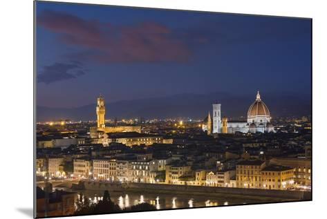 Florence Skyline at Sunset.-Jon Hicks-Mounted Photographic Print