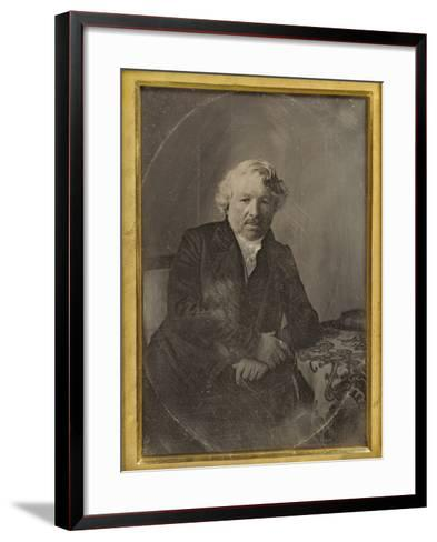 Portrait of Louis-Jacques-Mand? Daguerre by Charles Richard Meade--Framed Art Print
