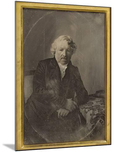 Portrait of Louis-Jacques-Mand? Daguerre by Charles Richard Meade--Mounted Photographic Print