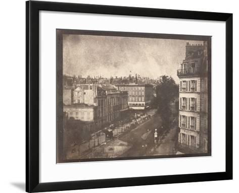 View of the Boulevards of Paris by William Henry Fox Talbot--Framed Art Print