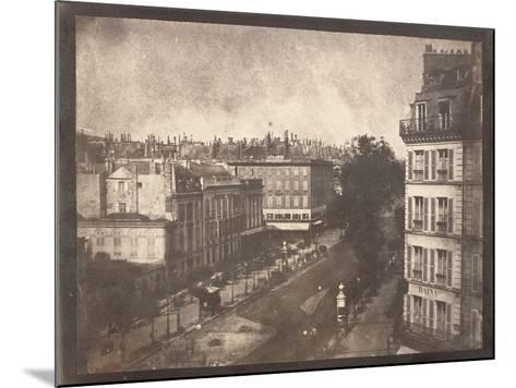 View of the Boulevards of Paris by William Henry Fox Talbot--Mounted Photographic Print