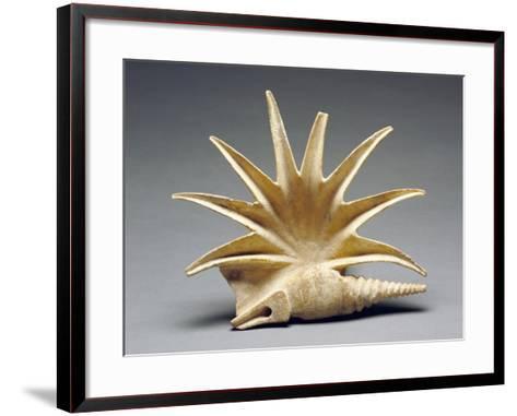 Greek Offering Vessel in the Shape of a Seashell,--Framed Art Print