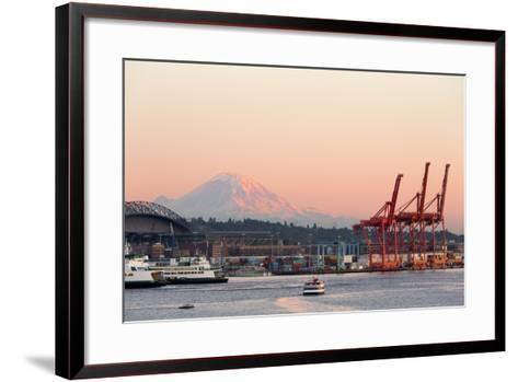 The Port of Seattle.-Jon Hicks-Framed Art Print